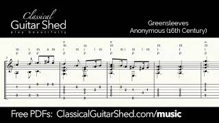 Greensleeves - Free sheet music and TABS for classical guitar