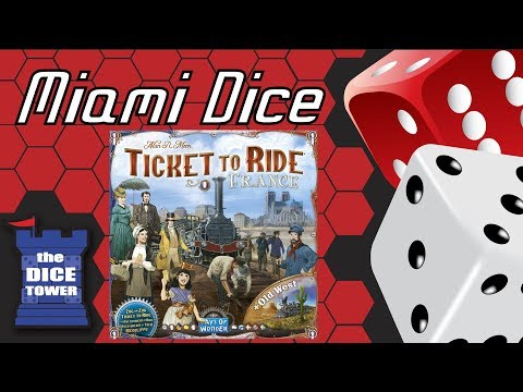 Miami Dice - Ticket to Ride Map Collection #6: France & Old West