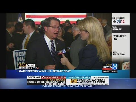 Gary Peters discusses U.S. Senate win