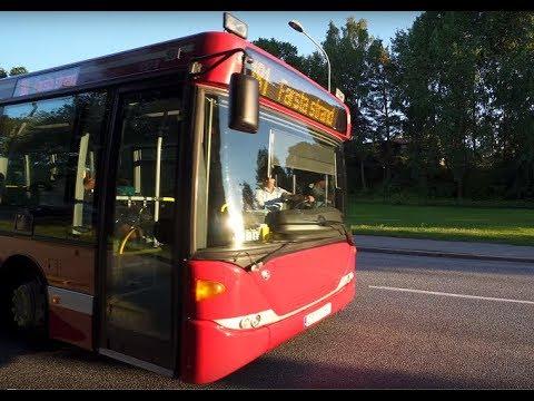 Sweden, Stockholm, ride with bus 181 to Farsta strand train station, 1X automatic KONE elevator