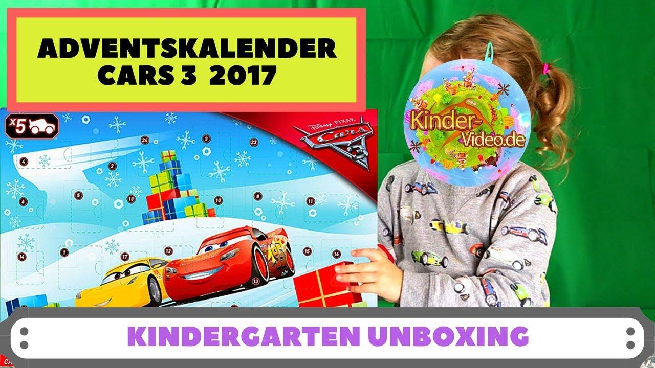 Cars Weihnachtskalender.Cars 3 Advent Calendar 2017 Unboxing Kindergarten Kid Opens All The Doors