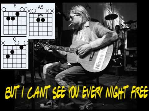 NIRVANA - ABOUT A GIRL LYRICS AND CHORD
