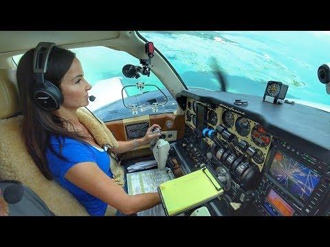 TURBOCHARGED BARON! - Bahamas Flight VLOG