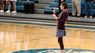 Sarah Kaye Beavers singing National Anthem.wmv