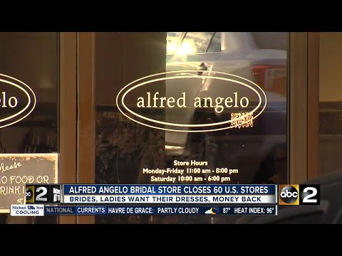 Alfred Angelo Bridal stores closing Thursday