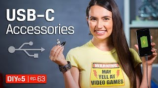 Android Tips - USB Type C Android Accessories - DIY in 5 Ep 63