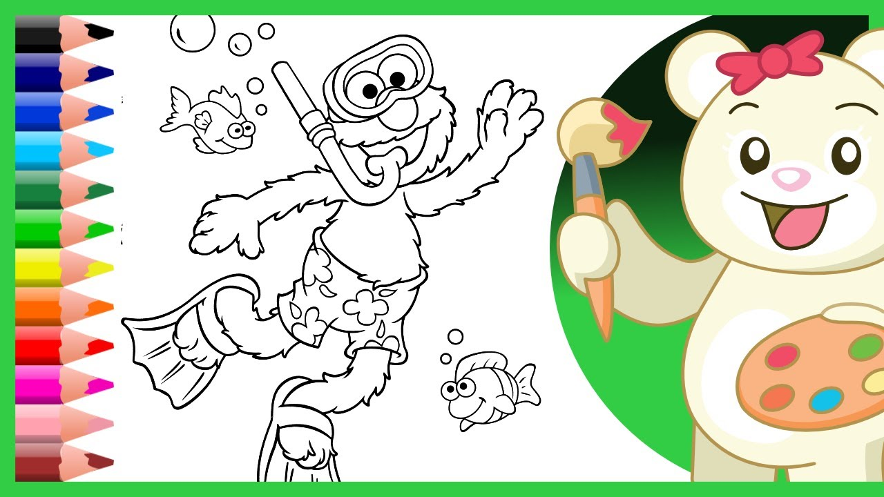 Sesame Street Coloring Pages   Coloring Videos For Children   Learn Colors