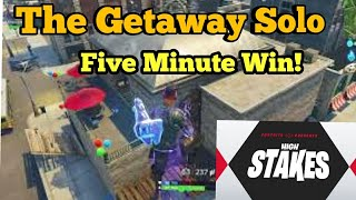 *World Rec* Fastest Win Getaway LTM Fortnite Gameplay Solo GETAWAY Win In Under 5 Minutes.!