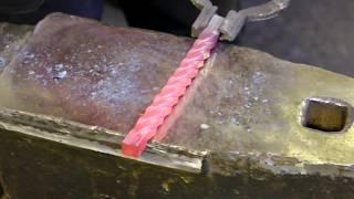 Горячая ковка ручек для шампуров,своими руками.Часть2.Forging handles for skewers, do it yourself.
