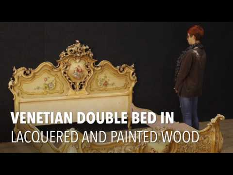 Venetian double bed of the 20th century. Antiques and decorative shop online