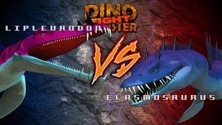 Dinosaurs Monster Liopleurodon VS Elasmosaurus