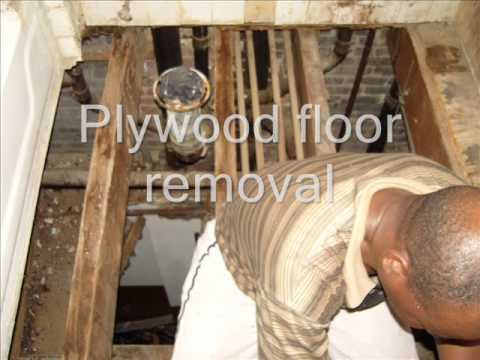 Bathroom Subfloor Replacement bathroom floor and subfloor repair - youtube