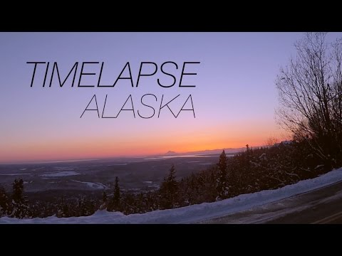 SKYLINE SUNSET October 22, 2016 - TIMELAPSE ALASKA