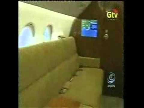 Ghana Presidential jet interior