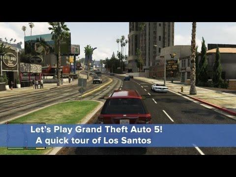 Let's Play GTA5: Driving around Los Santos