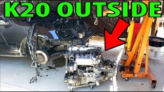 RSX Type-S K20A2 engine and transmission Removal