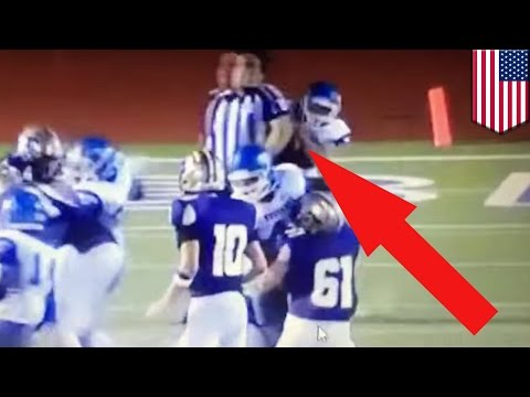 Football players tackle referee on purpose during high school game in Texas- TomoNews