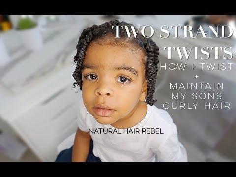 Natural Hairstyle For Kids Two Strand Twists On Boys Hair