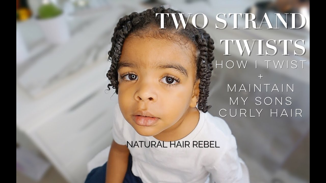 Natural Hairstyle For Kids Two Strand Twists On Boys Hair Toddler Edition