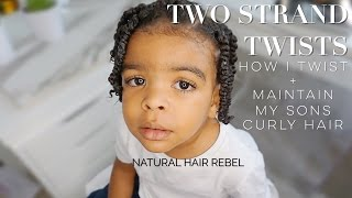 NATURAL HAIRSTYLE FOR KIDS • TWO STRAND TWISTS ON BOYS HAIR • TODDLER EDITION