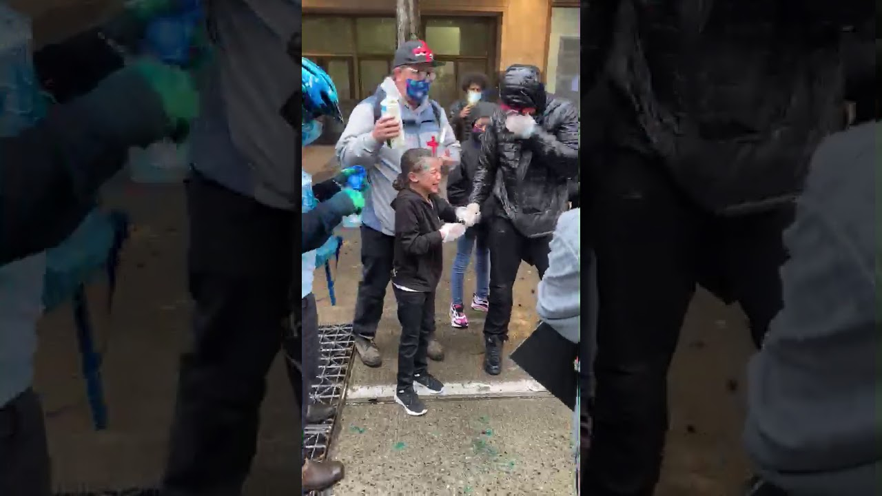 9 year old Biracial Girl  Maced by Cop during George Floyd protest in seattle