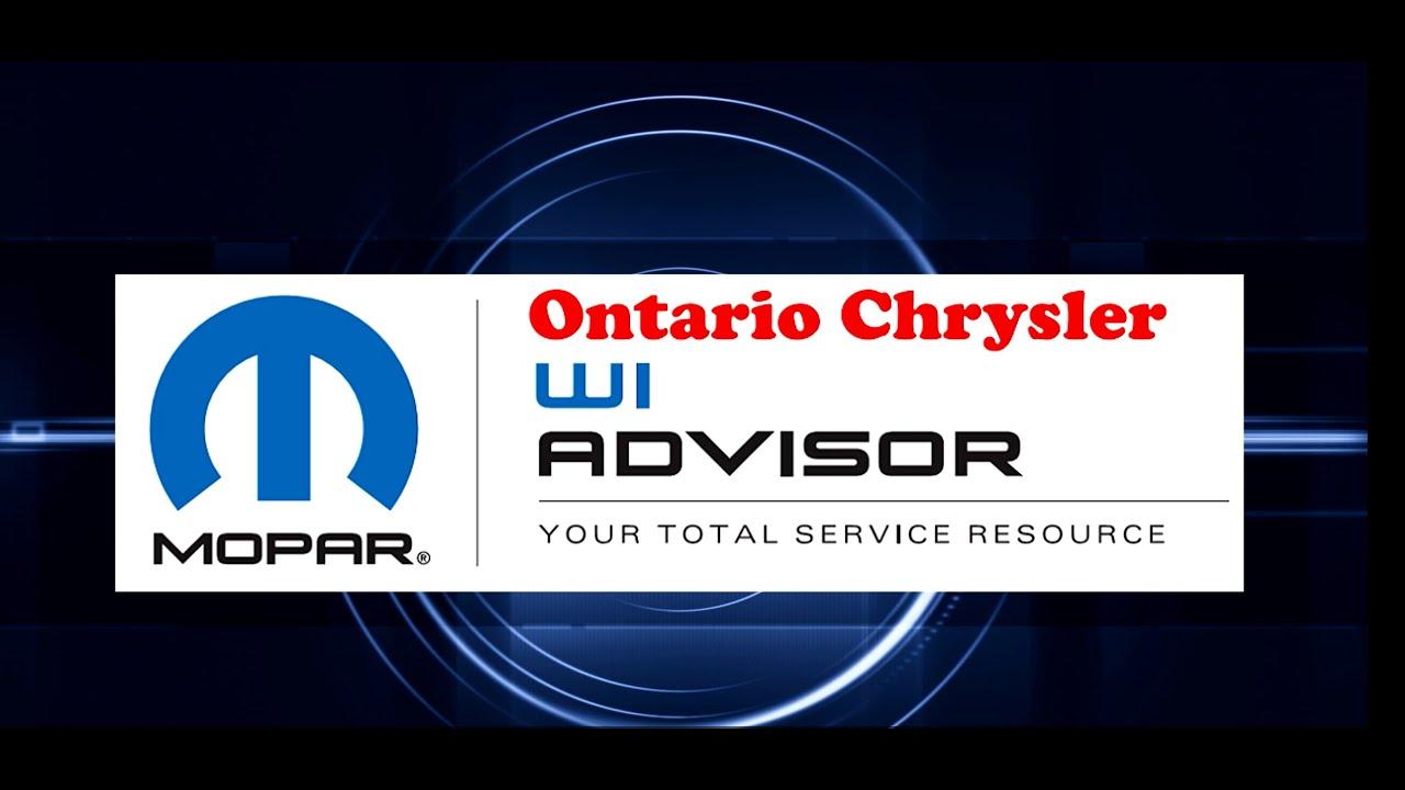 Mopar WiAdvisor | A new Car Service Technology | Ontario Chrysler Service