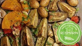 Овощи и куринные ножки в духовке