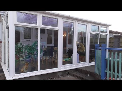 Build a conservatory p9 The finishing part with the laminated flooring