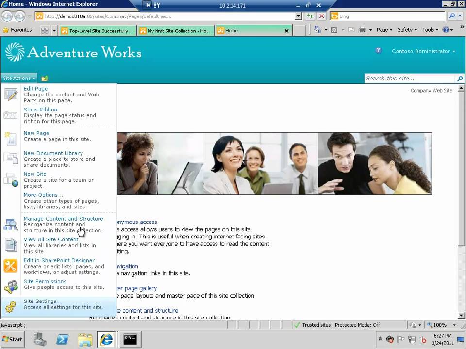 SharePoint Video Series 6 - SharePoint 2010 Site Templates.mp4 - YouTube
