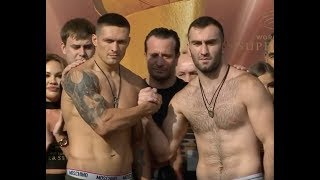 USYK VS GASSIEV FULL WEIGH-IN FOR WORLD BOXING SUPER SERIES CRUISERWEIGHT FINAL