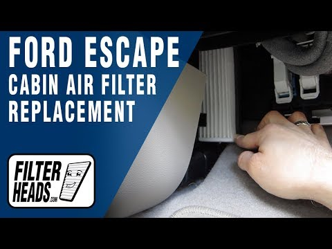 How To Replace Cabin Air Filter 2013 Ford Escape