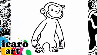 como dibujar a jorge el curioso | how to draw curious george