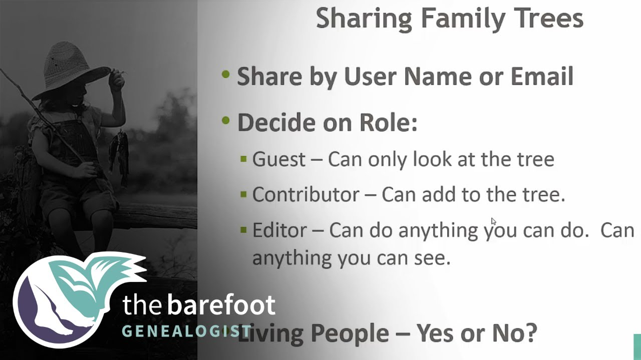 shared family trees on