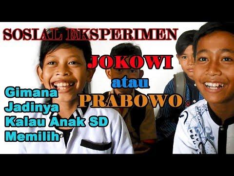 Ngakak..! Pilih JOKOWI atau PRABOWO  Anak SD Pilih Prabowo karena KUWAT