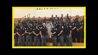 Breaking News | Indiana police officers support daughter of fallen trooper at graduation more than
