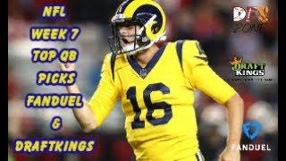NFL Week 7 Top QB Picks Fanduel & Draftkings