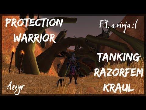 WoW: Classic | Tanking Razorfen Kraul as a Prot Warrior [ RFK ] | Aezyr