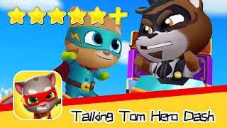 Talking Tom Hero Dash Run Game Day50 Walkthrough Raccoon Chase Recommend index five stars+