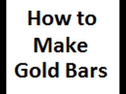 How to Make a Gold Bar by Casting Gold Bullion Ingot