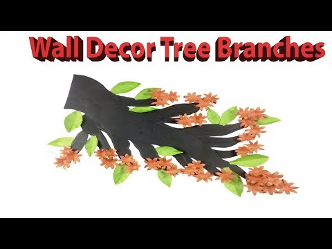 Wall Decor Tree Branches Room Decoration | Room Decoration Ideas - Easy Craft