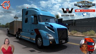 "American Truck Simulator (1.38)   Volvo VNL 2018 fix [2.25] by Galimin  Westyern Star Future Truck 2020 Dealer to Stockton California Trailer Jazzycat Chevy Step Van Pack AI Traffic v1.0 and Municipal Police Traffic Pack v1.0 FMOD ON and Open Windows Next-Gen Graphics USA Test Gameplay ITA + DLC's & Mods Changelog v2.25 Added Basic mirrors Reduced wiper sound level Reworked the dashboard computer Update to the sounds https://forum.scssoft.com/viewtopic.php?f=207&t=256560  SCS Software News Iberian Peninsula Spain and Portugal Map DLC Planner...2020 https://www.youtube.com/watch?v=NtKeP0c8W5s Euro Truck Simulator 2 Iveco S-Way 2020 https://www.youtube.com/watch?v=980Xdbz-cms&t=56s Euro Truck Simulator 2 MAN TGX 2020 v0.5 by HBB Store https://www.youtube.com/watch?v=HTd79w_JN4E  #TruckAtHome #covid19italia Euro Truck Simulator 2    Road to the Black Sea (DLC)    Beyond the Baltic Sea (DLC)   Vive la France (DLC)    Scandinavia (DLC)    Bella Italia (DLC)   Special Transport (DLC)   Cargo Bundle (DLC)   Vive la France (DLC)    Bella Italia (DLC)    Baltic Sea (DLC) Iberia (DLC)   American Truck Simulator New Mexico (DLC) Oregon (DLC) Washington (DLC) Utah (DLC) Idaho (DLC) Colorado (DLC)     I love you my friends Sexy truck driver test and gameplay ITA  Support me please thanks Support me economically at the mail vanelli.isabella@gmail.com  Roadhunter Trailers Heavy Cargo  http://roadhunter-z3d.de.tl/ SCS Software Merchandise E-Shop https://eshop.scssoft.com/  Euro Truck Simulator 2 http://store.steampowered.com/app/227... SCS software blog  http://blog.scssoft.com/  Specifiche hardware del mio PC: Intel I5 6600k 3,5ghz Dissipatore Cooler Master RR-TX3E  32GB DDR4 Memoria Kingston hyperX Fury MSI GeForce GTX 1660 ARMOR OC 6GB GDDR5 Asus Maximus VIII Ranger Gaming Cooler master Gx750 SanDisk SSD PLUS 240GB  HDD WD Blue 3.5"" 64mb SATA III 1TB Corsair Mid Tower Atx Carbide Spec-03 Xbox 360 Controller Windows 10 pro 64bit"