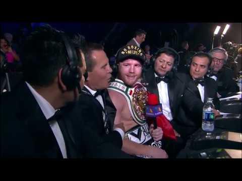 El Canelo Alvarez hablo con Box Azteca Team tras su GRAN TRIUNFO sobre Golovkin