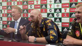 GIVE US A SONG! - TYSON FURY & FRANK WARREN BLAST OUT 'AMERICAN PIE' IN POST FIGHT PRESS CONFERENCE