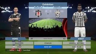 Besiktas JK vs Juventus FC, BJK Vodafone Park, PES 2016, PRO EVOLUTION SOCCER 2016, Konami, PC GAME