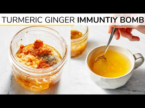 TURMERIC GINGER HONEY BOMB | Immunity Boosting Recipe