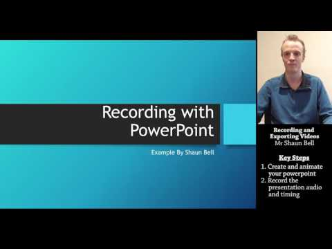 PowerPoint Tutorial: Recording and Exporting Videos