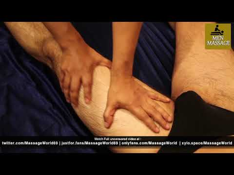 Front of Leg Massage - Aaryan Leg Massage by Desi Boy Aadi - Basic Swedish Massage Techniques