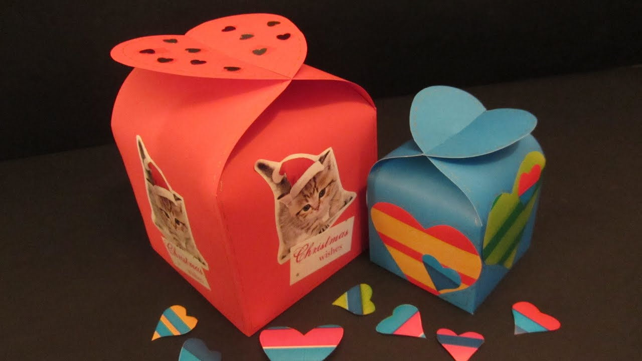 Como hacer una caja corazón (San Valentín). Heart box. - YouTube