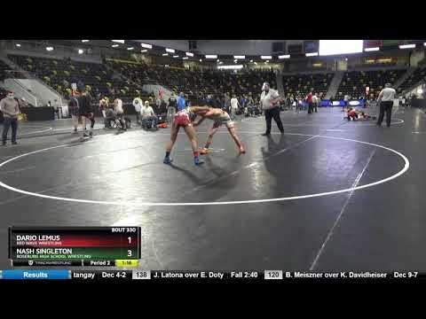High School Boys 126 Nash Singleton Roseburg High School Wrestling Vs Dario Lemus Red Wave Wrestli