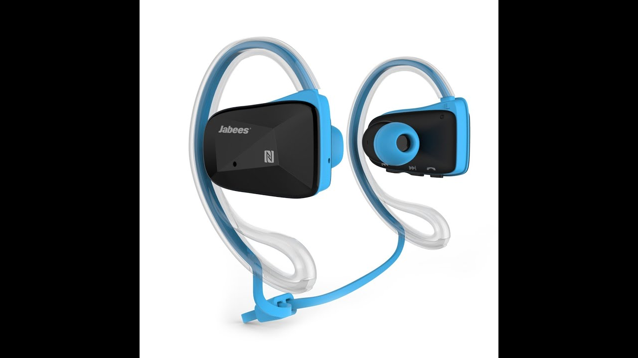 405de66626e Jabees BSport Bluetooth Sweat proof Sports Headphones - YouTube